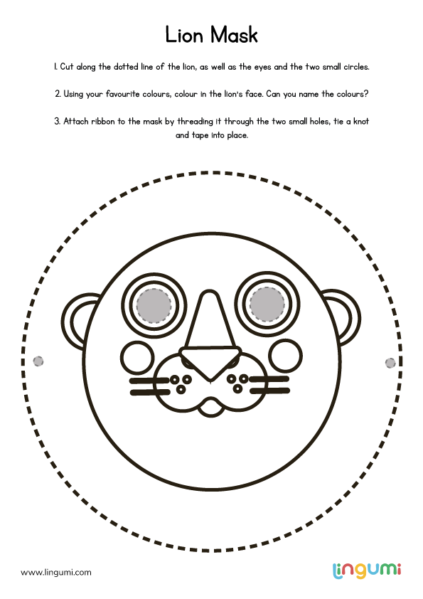 It's just a photo of Printable Lion Masks regarding safari